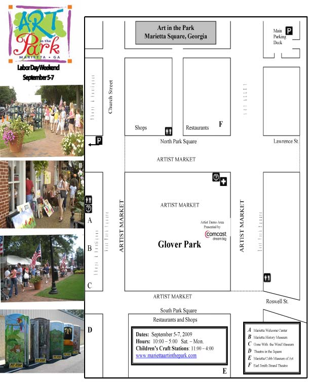 Art in the Park Venue Map