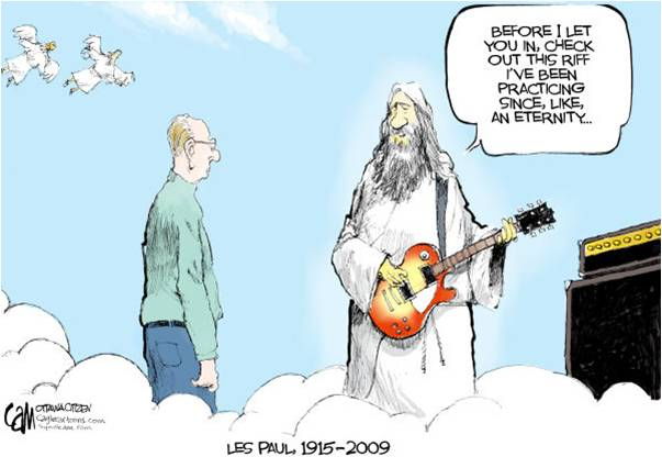 Les Paul cartoon