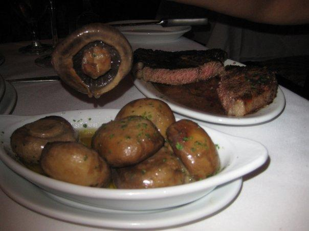 Ribeye and Mushrooms