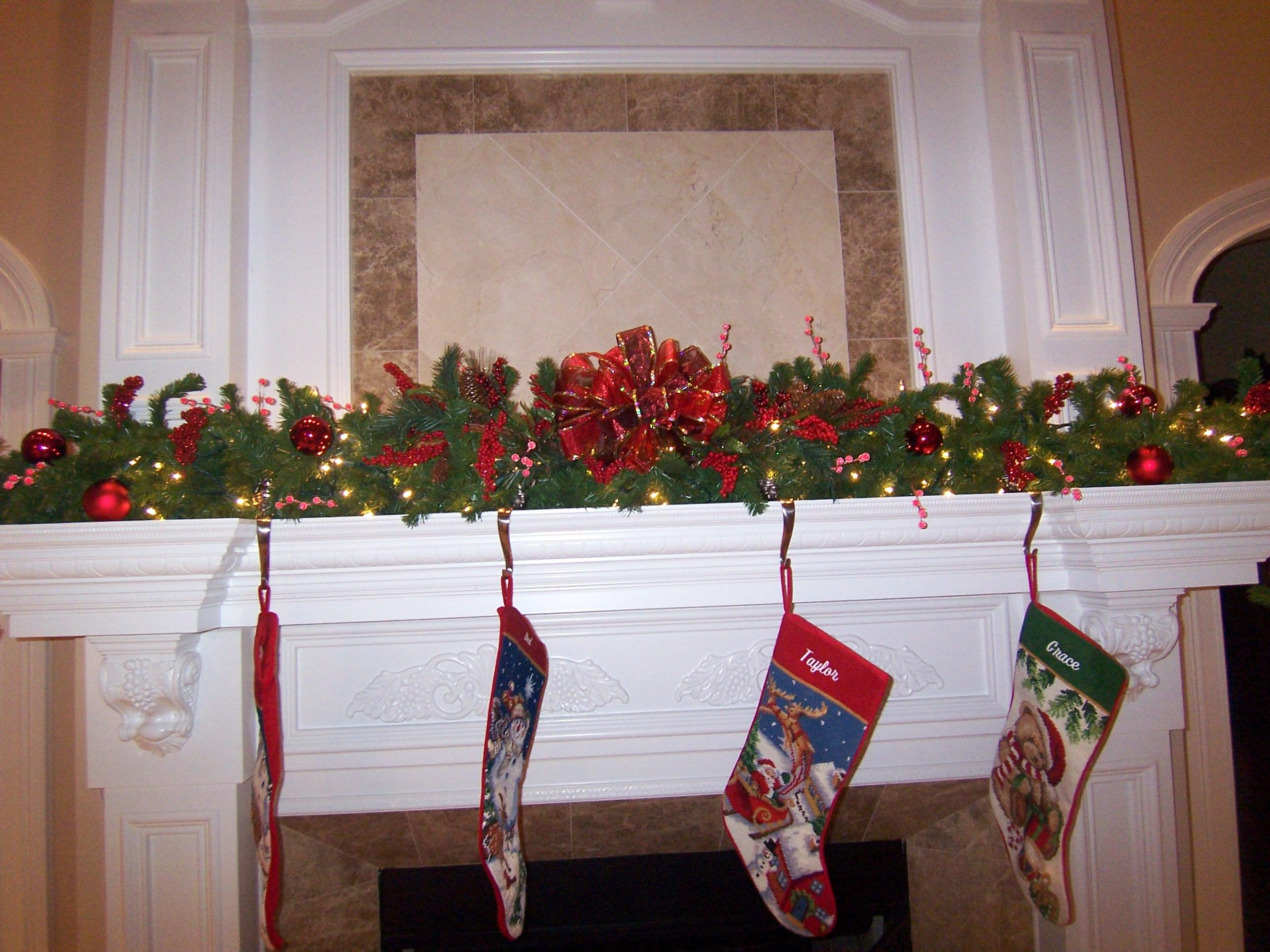 One way to attach your garland to the staircase ...