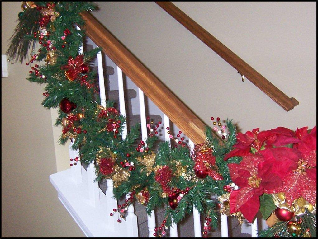 now - Banister Christmas Garland Decor